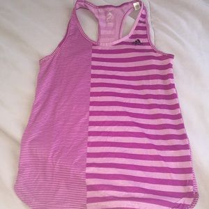 Adidas workout tank top size small purple pink EUC